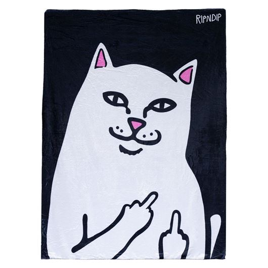 Picture of Lord Nermal Throw Blanket Black