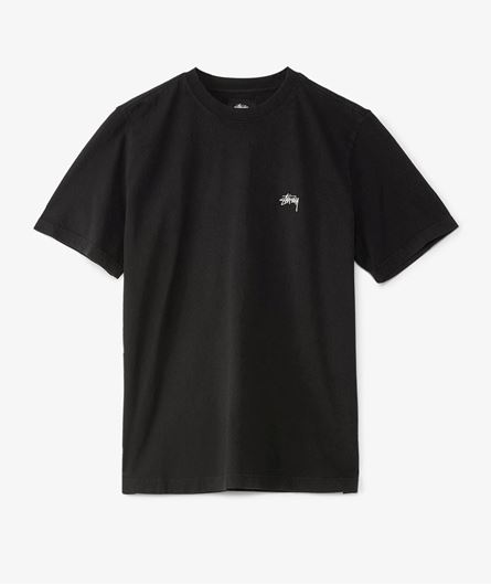 Picture of STOCK LOGO S/SL CREW Black