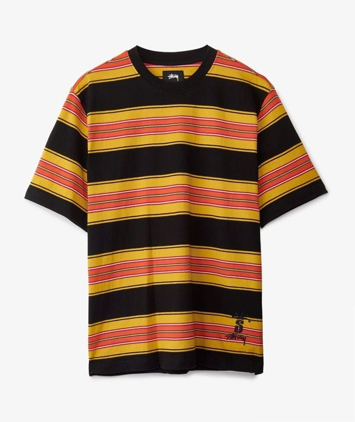 Picture of MULTI STRIPE CREW Black