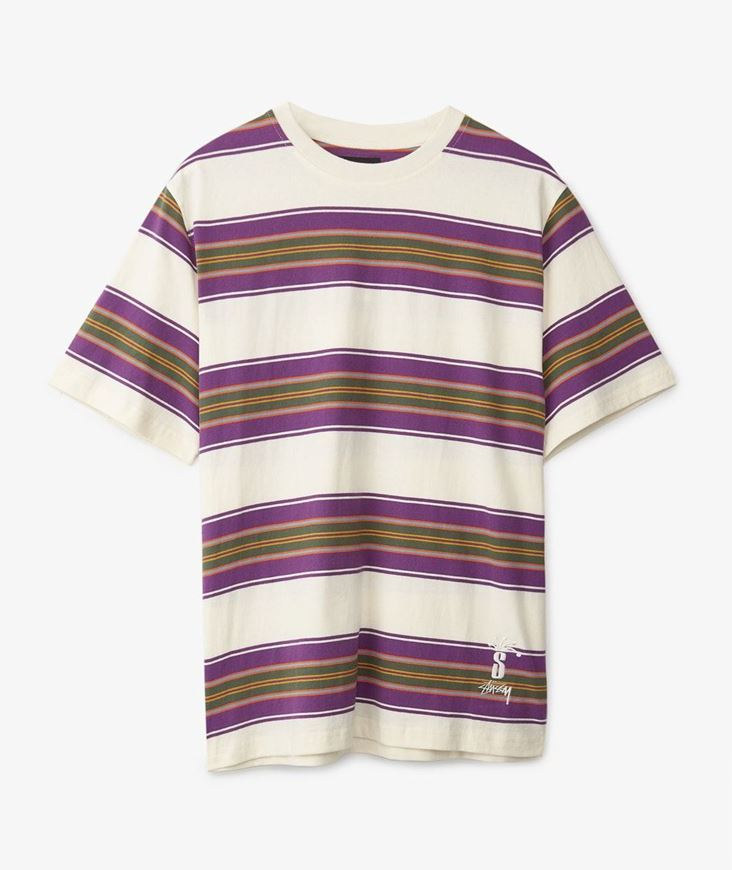 Picture of MULTI STRIPE CREW Natural