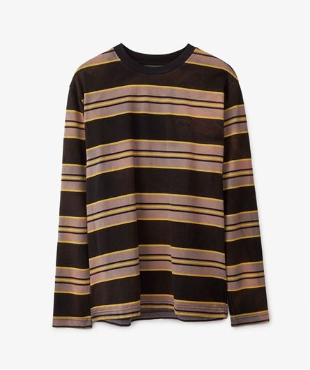 Picture of BLEACH STRIPE LS CREW Black