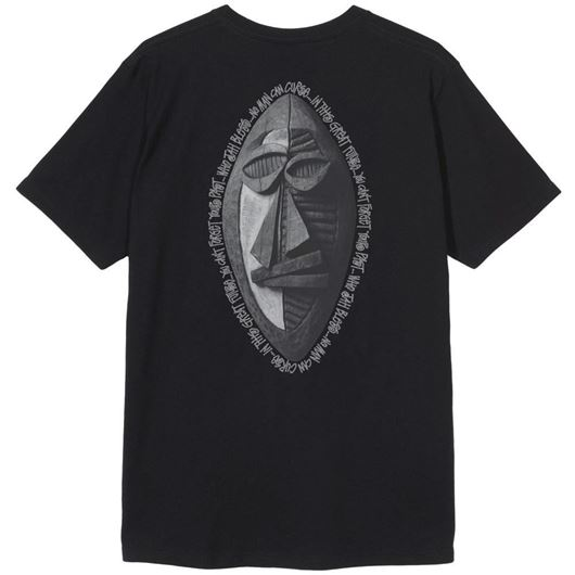 Picture of TRIBAL MASK TEE Black