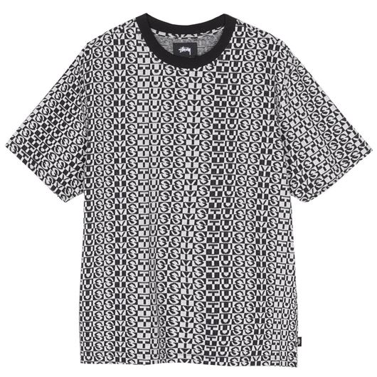 Picture of STUSSY CHECK CREW Black
