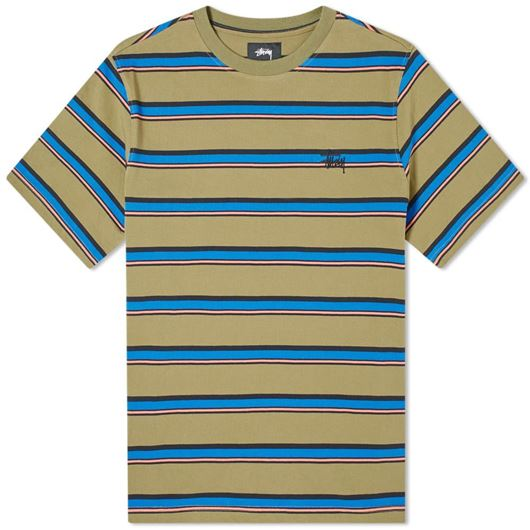 Picture of HARBOUR STRIPE CREW Olive