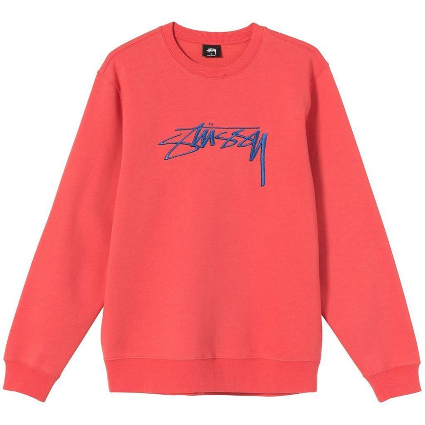 Picture of STUSSY SMOOTH STOCK APP. CREW Pale Red