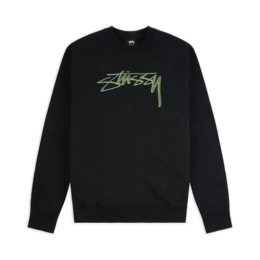 Picture of STUSSY SMOOTH STOCK APP. CREW Black