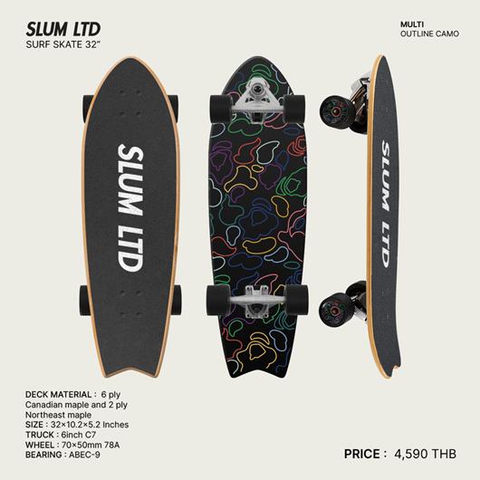 Picture of SLUM LTD Surf Skate Outline Camo
