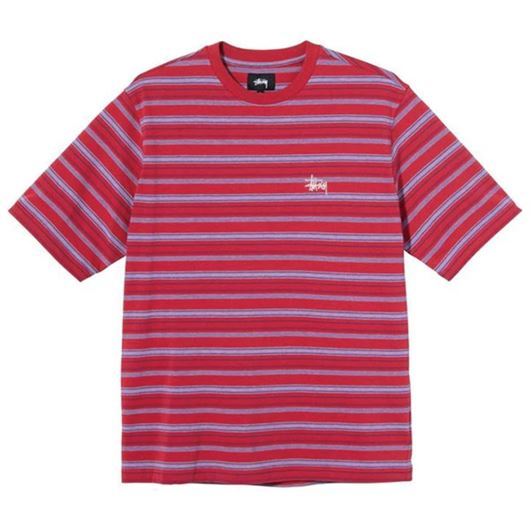 Picture of HEATHER STRIPE CREW Red