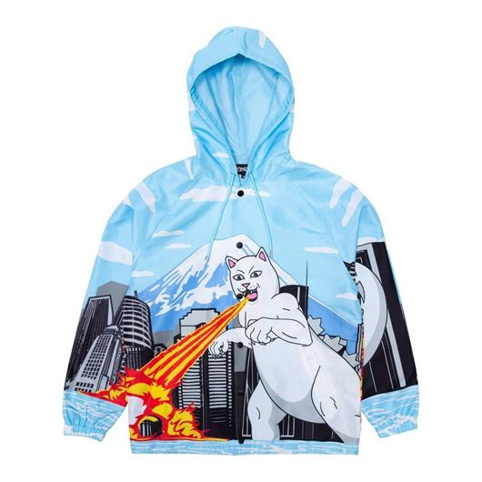 Picture of Nermzilla Hooded Coach Jacket Baby Blue