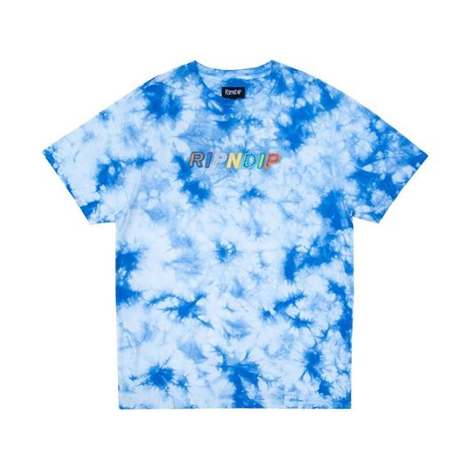 Picture of  Prisma Embroidered Tee Blue Lightning Wash