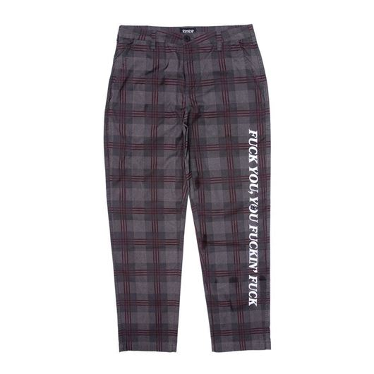 Picture of  Fucking Fuck Plaid Pants Black