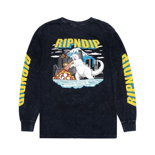 Picture of Nermzilla Long Sleeve Black Mineral Wash