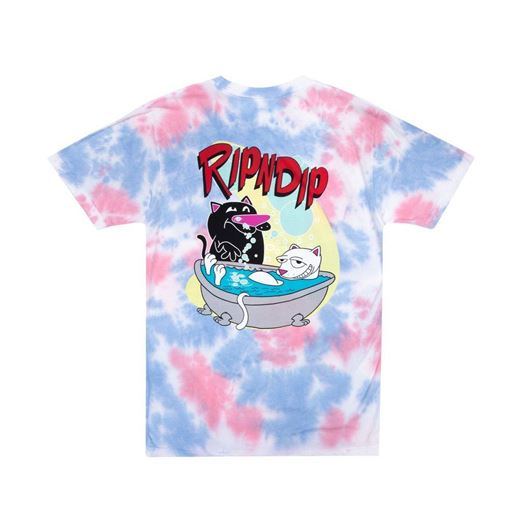 Picture of Bath Time Tee Pink Tie Dye